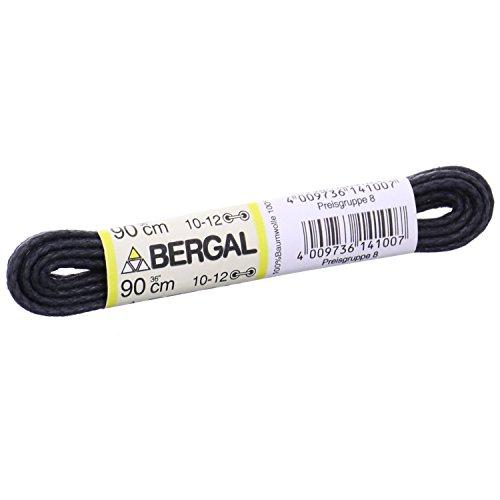 BERGAL 1 Paar Schnürsenkel schwarz - gewachst - rund - Ø 2,5 mm (90 cm)
