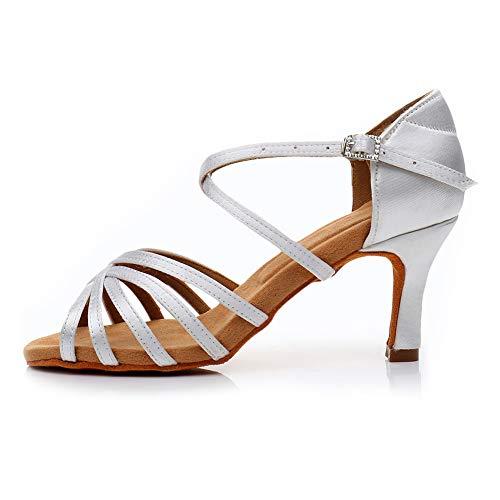 AOQUNFS Zapatos de Baile Latino Mujer Salsa y Bachata Zapatos de Baile...