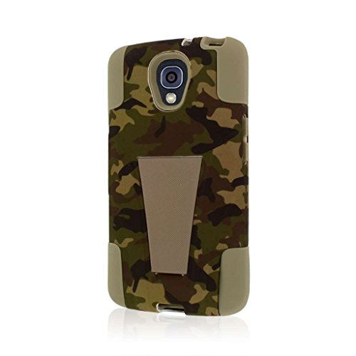 LG Volt Case (F90 LS740), MPERO Impact X Series Dual Layered Tough Durable Shock Absorbing Silicone Polycarbonate Hybrid Kickstand Case for Volt [Perfect Fit & Precise Port Cut Outs] - Hunter Camo