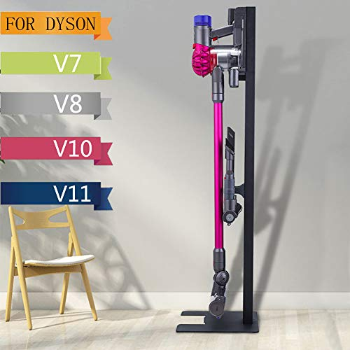 Vanell Stand Holders for Dyson V7 V8 V10 V11 Vacuum Cleaner NO Punch Nailless Wall Mount Bracket Attachment Holders (For Dyson Vacuum Cleaner, Black/ Stand and Docking Station)