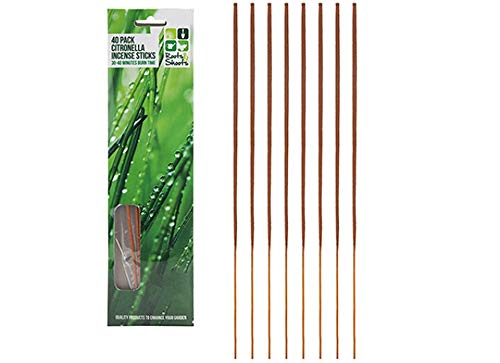 Roots & Shoots 40 Pack Citronella INCENSE STICKS Candles Outdoor Garden Anti Bug Fly Mosquito