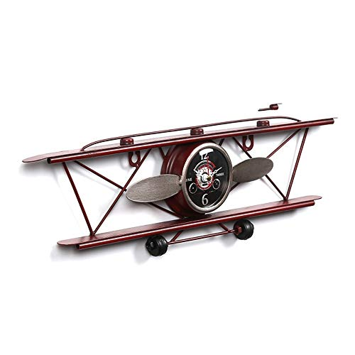 MBLUE Retro Stil Flugzeug Wanduhr Eisen Dekoration Uhr Wandbehang Kunst Uhr