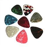 Lot de 20 médiators fins pour guitare électrique acoustique 2 épaisseurs 0,46 mm/0,71 mm 0.46 mm