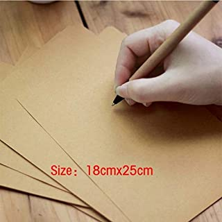 50pieces 120g empty letter paper nostalgic for kraft printing thick paper B5A4 A5 Size writing paper for card scrapbooking...