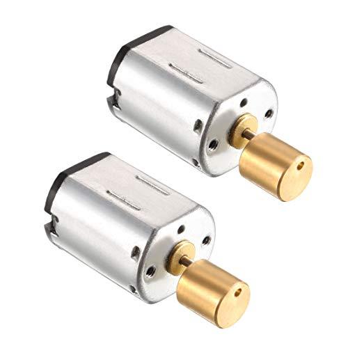 sourcing map Micro Motor vibratorio eléctrico DC 3V 5000RPM de 2 terminales de Motor de vibración 2 unidades