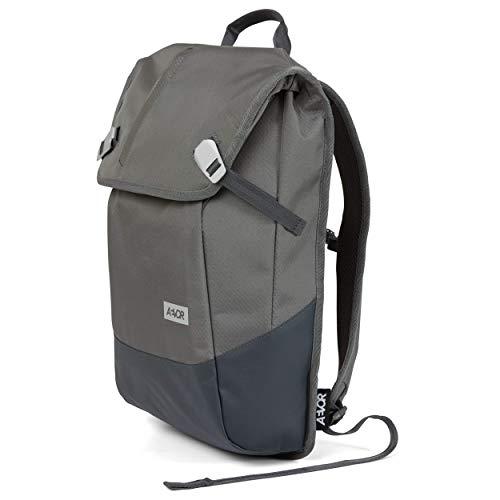 AEVOR Daypack Proof- erweiterbarer Rucksack, wasserfest, ergonomisch, Laptopfach - Proof Stone - Grau