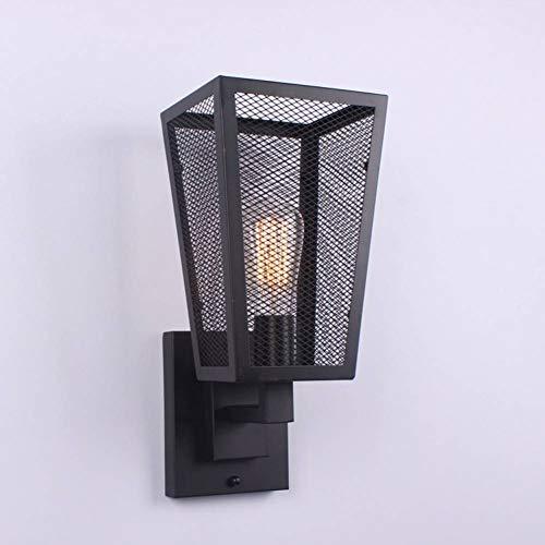 JFHGNJ Tafellamp, retro-verlichting, binnenverlichting, bedlampje, retro, wandlamp, zwart, ijzer, loft, industriële stijl