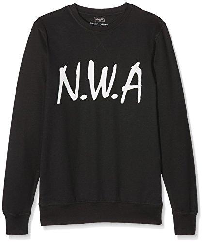 Mister Tee Herren N.W.A Crewneck Sweatshirts, Black, XS