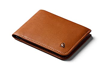 Bellroy Hide & Seek Wallet  Slim Leather Bifold Design RFID Protected Holds 5-12 Cards Coin Pouch Flat Note Section Hidden Pocket  - Caramel - RFID