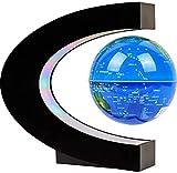 Globo Flotante con Luces LED, 2020 Nuevo Mapa del Mundo del Globo Giratorio Flotante de levitación magnética en Forma de C Regalo Educativo Globe Gravity para Escritorio de Oficina en casa para niños