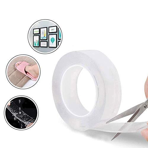 GF GH Nano Magic Tape, doppelseitiges Klebeband, waschbar, Nano-Tape für Wand, Küche, Teppich, Befestigung von Fotos 2mm* 3cm*5m