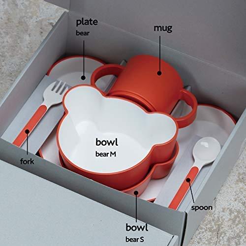 takKIDSDISHギフトボックスカトラリーベアイエロー/タックキッズディッシュ食洗機対応(イエロー)子供用食器JTN-1011-YL