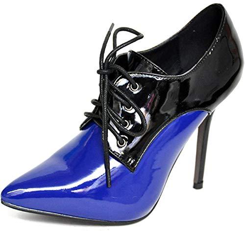 Damen Schuhe Lack Stiletto Ankle High Heels Pumps Mehrfarbig Geschlossen 38