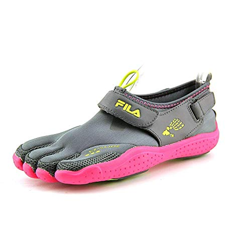 Fila Kid's Skele-Toes Ez Slide Drainage Shoes,Gray,3 M US Little Kid