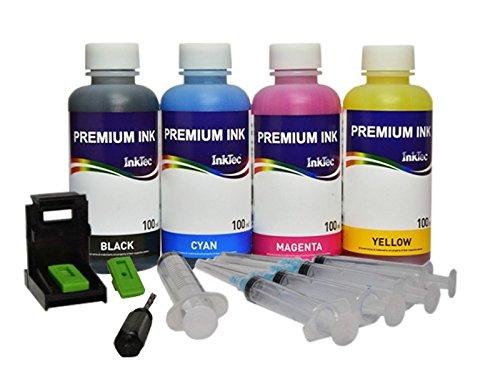 Кit ricarica cartucce PG-540 / CL-541, PG-545 / CL-546 nero e colore, Refill Clip, 400 ml inchiostro ricarica Premium Inktec di altà qualità per stampanti PIXMA