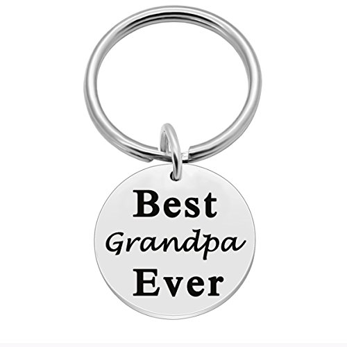 SOSOHOME Father's Day Birthday Keychain, Unique Personalized Gifts for Grandfather - Best Grandpa Ever
