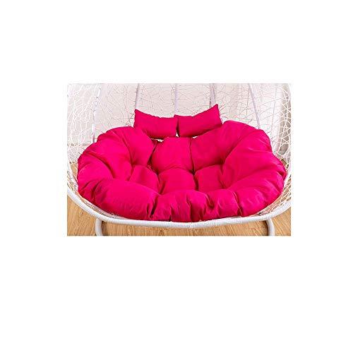 Alaeo Acolchado Grueso Sillón reclinable de la Cama Asiento de la Silla Cojín del Columpio de la Cesta Cojines en Forma de Nido de Huevo Hamaca Colgante Doble Lavable-1.3m*90cm Rojo