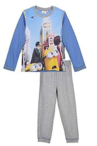 Neu Minions langarm Pyjama für Jungen Kinder Schlafanzug mit Bündchen Ich - Einfach Unverbesserlich