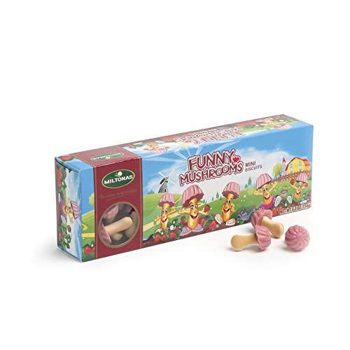 Miltonas Funny Mushrooms Hongos De Chocolate Mini Galletas Chocolate Selección De Surtido Múltiples Sabores (Fresa, 5 x 150g)