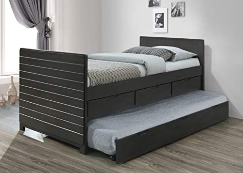 Best Quality Furniture -B Captain Bed with Twin Trundle, Gray