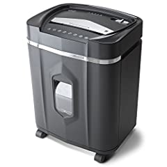 High security micro-cut with 12 sheet capacities; destroys CDs, DVDs, credit cards and small paper clips Shreds paper, CDs, DVDs, credit cards into small pieces (5/32 by 15/32 inches), security level P-4 Nonstop 60-minute continuous run time. Basket ...
