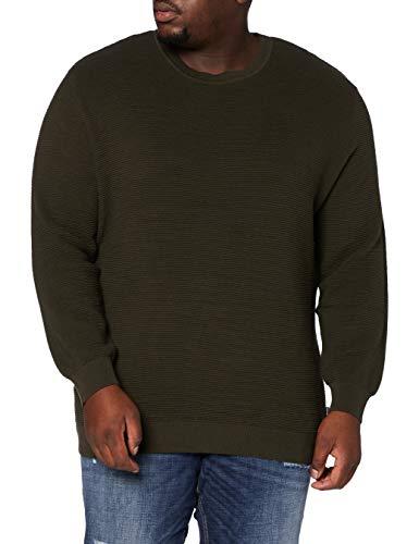 Jack & Jones JJELIAM Knit Noos Crew Neck PS Sweater, Marron, 4XL/6XL Homme