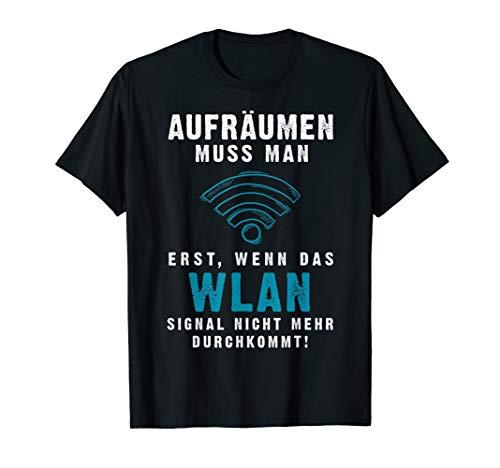 Nerdy Geek Wifi & WLAN Aufräumen   Gamer & Console Spieler T-Shirt