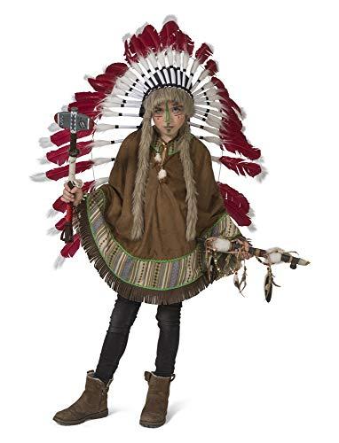 Generique - Indianer-Poncho für Fasching Kostüm-Zubehör für Kinder braun