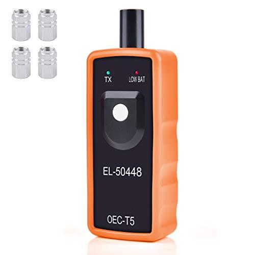 Funkprofi RDKS Anlernsystem Reifenventilaktivator TPMS-Reifendrucksensor Reifendruck Kontrollsysteme EL-50448 für OPEL GM mit 4 x Gasventilkappen (Orange)