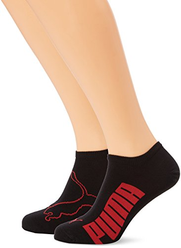 Puma Herren Sportsocken Lifestyle, 2er Pack, Rot (Black/White/Red), Gr. 43-46