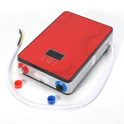 Scaldabagno elettrico istantaneo, 220 V, sistema di riscaldamento elettrico istantaneo, per vasca da bagno, doccia, kit portatile IPX4, rosso
