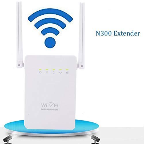 MC.PIG Extensor de Rango de Malla WiFi -300Mbps Repetidor inalámbrico Antena Dual Puerto de Red Dual Amplificador de señal WiFi inalámbrico Ap inalámbrico Configuración fácil