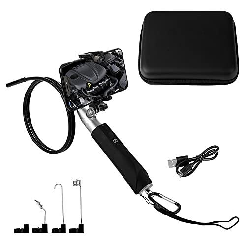 Kilcvt Endoscopio De Mano, 8 Mm 1080p HD WiFi Endoscopio De Mano/Cámara IP Inalámbrica Impermeable Ip67 / Cámara De Serpiente con Cable Semirrígido USB, para Android/iOS,Plata,3m