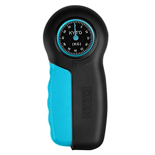 BESPORTBLE Hand Dynamometer Grip Strength Measurement Hand Grip Strengthener for Gym Home Black Blue