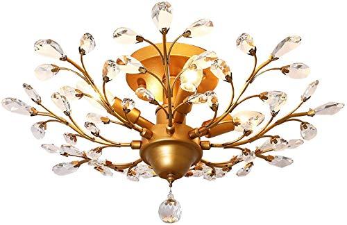 4 luces de techo de cristal de la vendimia Lámparas luces LED de luz de techo de cristal colgante de iluminación luminarias Lámparas de iluminación for la sala de estar Dormitorio restaurante Pórtico