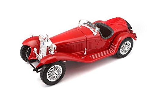 BBurago - 12063 - Voiture sans pile - Reproduction - Alfa Romeo Spider Touring - échelle 1/18 - Coloris aléatoire