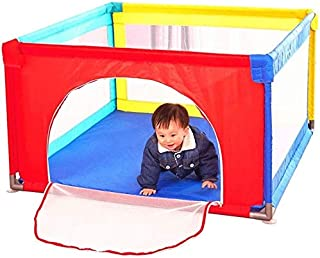 H aetn Playpens Portable Baby Play Yard for Toddler  Large Security Fence for Kids  Portable Children s Game Fence  Multicolor  Size 100x100x70cm