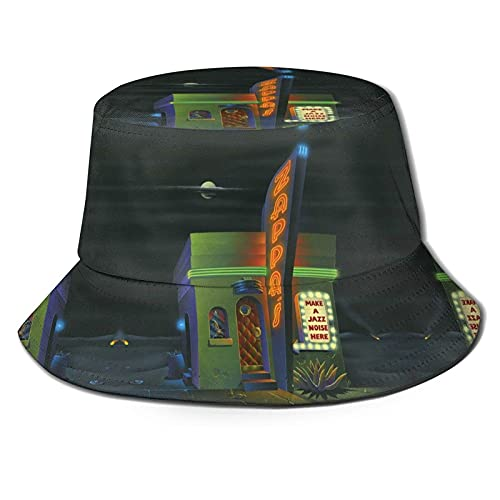 EWYRJK Cappelli da Sole Protezione UV Cappello da Pescatore Shopping da Viaggio Cappellino da Spiaggia Traspirante e Largo Breath Make A Jazz Noise Here