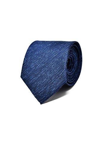 Oxford Collection Cravate Homme Bleu Foncé/Marine - 100% en Soie - Classique, Elégante et Moderne - (Idéale pour un cadeau, un mariage, avec un costum