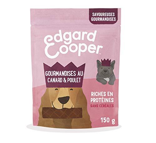Edgard & Cooper Friandises Recompense Chien Sans Cereales Nourriture Naturelle Canard et Poulet Frais, - Sachets de 150g