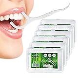 340 palillos de dientes Stick Dental Floss Disposable Palillos de seda dental limpiador dental palillos de limpieza dental para la eliminación de placa y restos de comida (4 paquetes + 40 presentes)