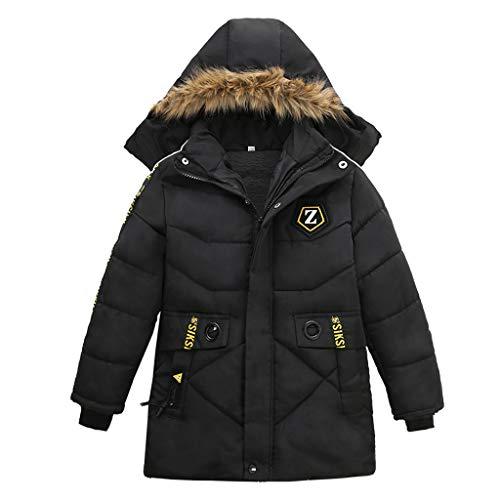Conjunto y Trajes para niños, SIKSIL Fashion Kids Coat Niños Niñas Abrigo Grueso Chaqueta de Invierno Acolchada Ropa, Ropa para niños y niñas (Negro 120)