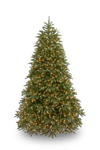 National Tree Company 'Feel Real' Pre-lit Artificial Christmas Tree | Includes Pre-strung White Lights and Stand | Jersey Fraser Fir Medium - 7.5 ft