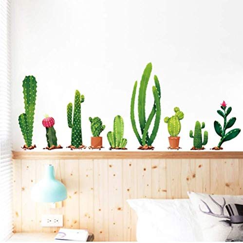 STPillow Wandsticker - vele soorten cactusgroene planten woonkamer slaapkamer achtergrond decoratie wandtattoo wanddecoratie