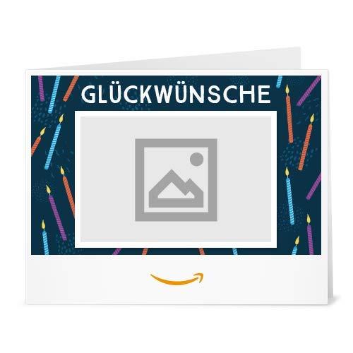 Amazon.de Gutschein zum Drucken mit eigenem Foto (Glückwünsche)