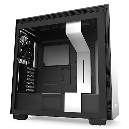 NZXT H710 - ATX-Mid-Tower-Gehäuse für Gaming-PCs - Front I/O USB Type-C Port - Tempered Glass-Seitenfenster mit Schnellspanner  - Für Wasserkühlung nutzbar - Weiß/Schwarz