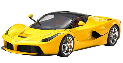 TAMIYA 24347 - 1:24 Ferrari LaFerrari Yellow Version, Modellbau, Plastik Bausatz, Basteln, Hobby, Kleben, Plastikbausatz