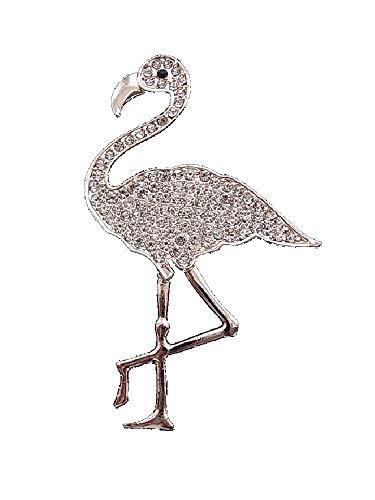 Brosche Magnetbrosche Schal Clip Bekleidung Poncho Taschen Stiefel Textilschmuck Flamingo Strass Rosegold