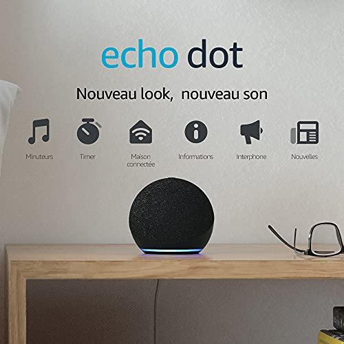 Echo Dot (4e génération), Enceinte connectée avec Alexa, Anthracite