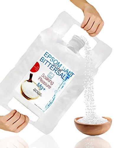 Sels d'Epsom ● Forme naturelle de Magnésium 6 Kg ● Multi Usage - Cuisine, Beauté, Santé, Jardin, Bain de Relaxation